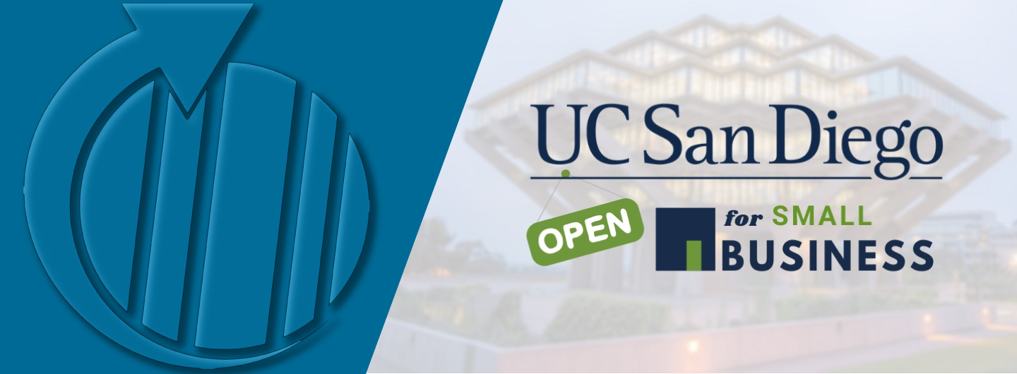 UC San Diego Open for Small Business logo
